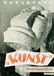 Nazi Art Show Poster