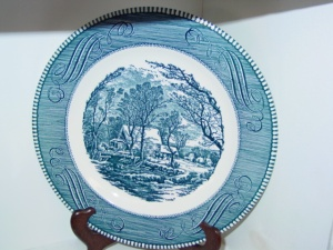 Currier and Ives China Plate